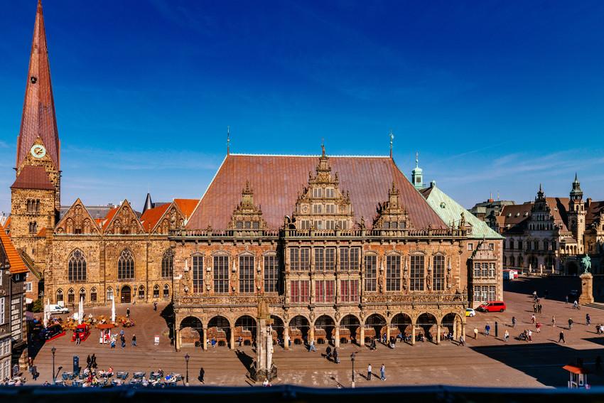 Blick auf das Bremer Rathaus